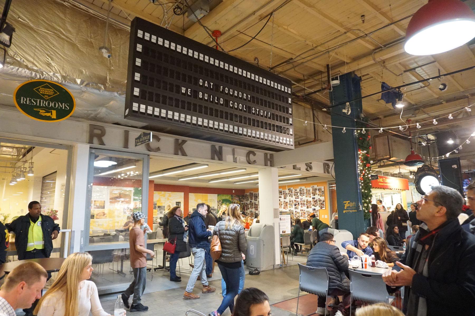 Reading Terminal Market Split Flap
