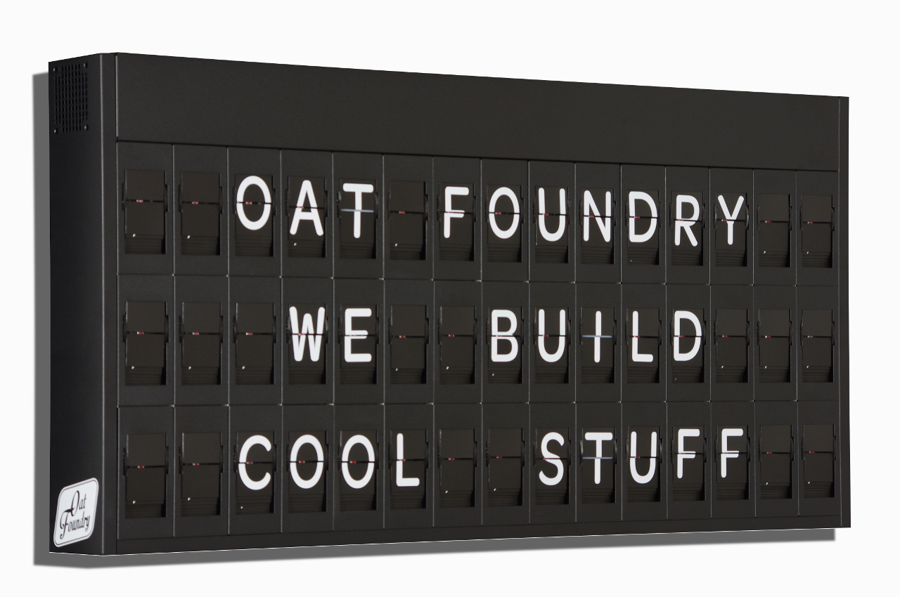 Oat Foundry projects Split Flap