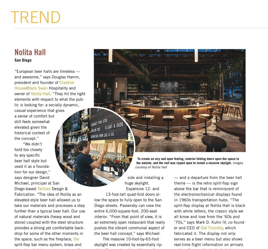 Nolita Hall Restaurant Development & Design Magazine